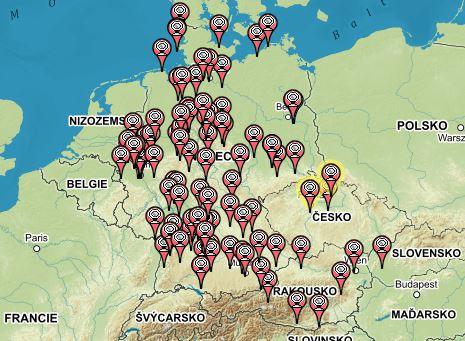 Mapa WEBcam keší